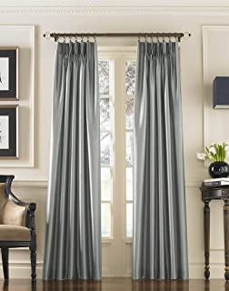 Curtainworks Marquee Faux Silk Pinch Pleat Curtain Panel, 30 by 132