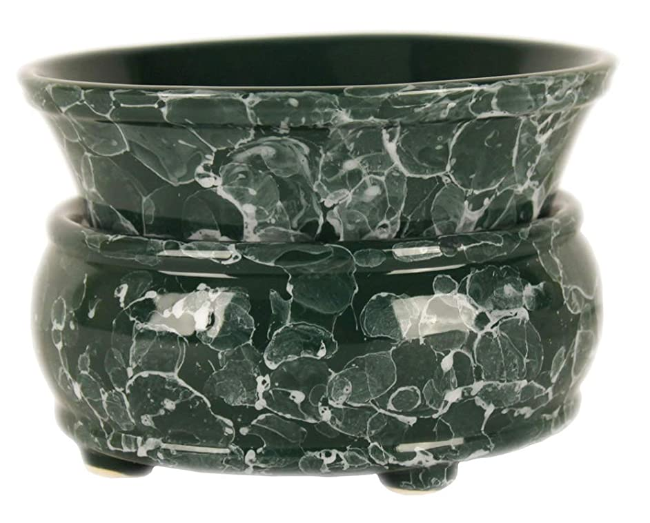 Green Marble Design Electric 2in1 Wax Melt Candle Warmer - Fragrance Air Freshener Melts Cubes Oils Candles Eliminates Smoke & Pet Odors