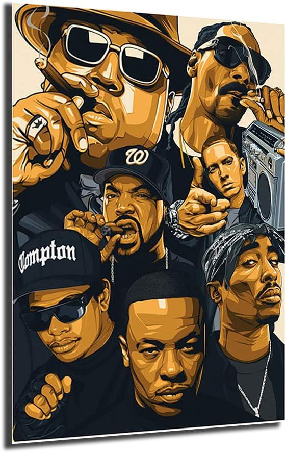 Rap Seasonal Wrap入荷 Legends Abstract Canvas Poster Street Art 日本全国 送料無料 Painting Al Office