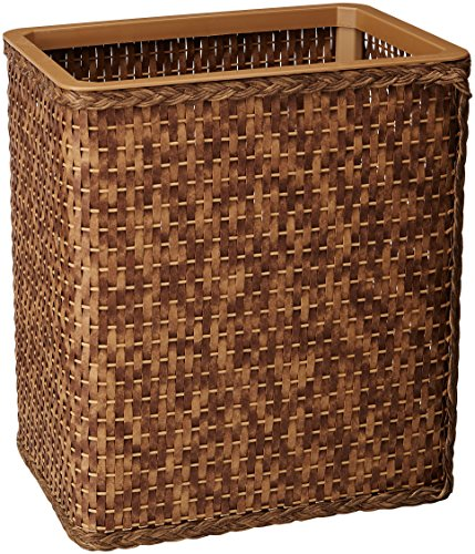 LaMont Home Carter Collection - Rectangular Wastebasket, Cappuccino