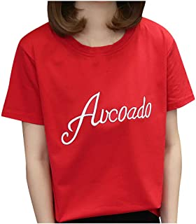 FELZ Camiseta para Mujer Moda Mujer ImpresióN Camiseta Manga Corta Suelta Blusa Tallas Grandes Jersey Camisa BáSica Color ...