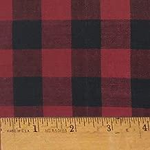 Red Buffalo Check Plaid Cotton Homespun Plaid Fabric by JCS - Sold by The Yard