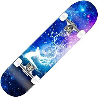 Eseewin Skateboard 7 Couches superpos/ées 31 x8 Pro Planches Compl/ètes pour Skateboard Longboards Longues en Bois dErable pour Adolescents Adultes D/ébutants Filles Gar/çons Enfants