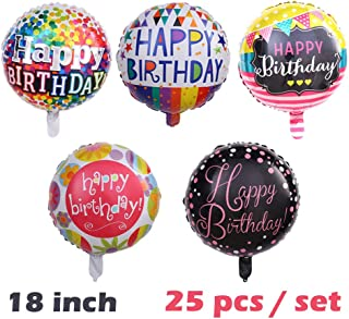 Happy Birthday Aluminum Foil Balloon 25 Pcs/set 18
