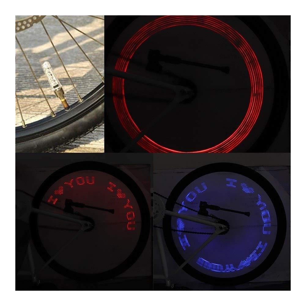 F-Jiujin-cap LED Bicicleta Lámpara de señal de Coche Rueda Llanta ...