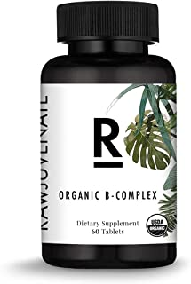 Rawjuvenate USDA Organic B-complex for Highest Absorption & Digestibility, 60Count