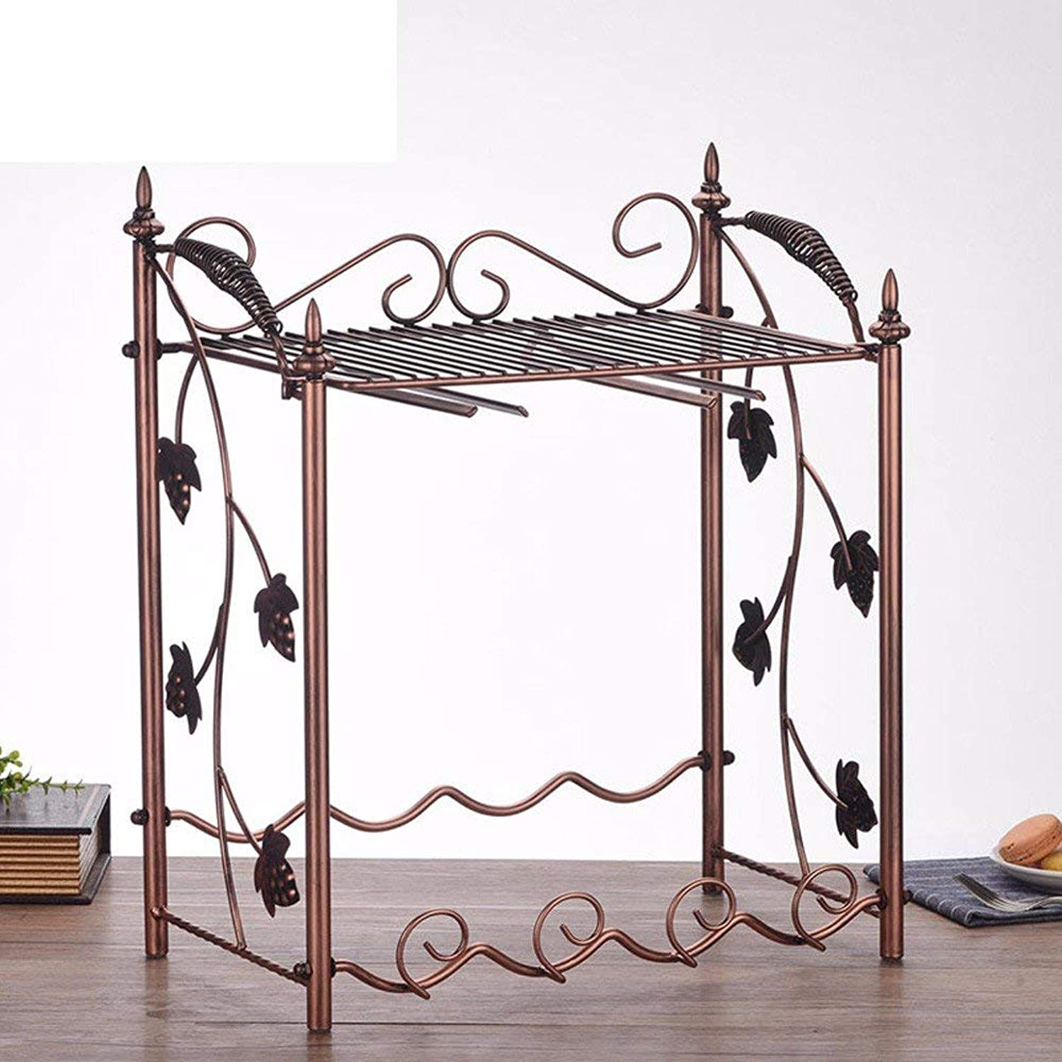 JINGB Kitchen Wine Rack Upside Down Display Rack Iron Decoration Living Room Coffee Table Wine Cabinet