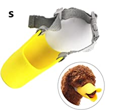 Citmage Dog Mouth Cover - Silica Gel Cute Duck Mouth-Shaped Anti-Bite Breathable Comfortable Safety Muzzle Dog Mouth Cover for Dog,Puppy