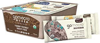 GoMacro Macrobar Organic Vegan Protein Bars - Fodmap Friendly Variety Pack (2.0-2.3 Oz Bars, 12 Count)