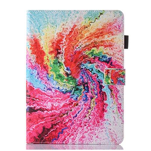 Bspring Hülle für iPad 9.7 Zoll 2018 2017 / iPad Air 2 / iPad Air - [SlimShell] Superleicht Folio Stand Schutzhülle Case mit Auto Schlaf/Wach Funktion,Bunt