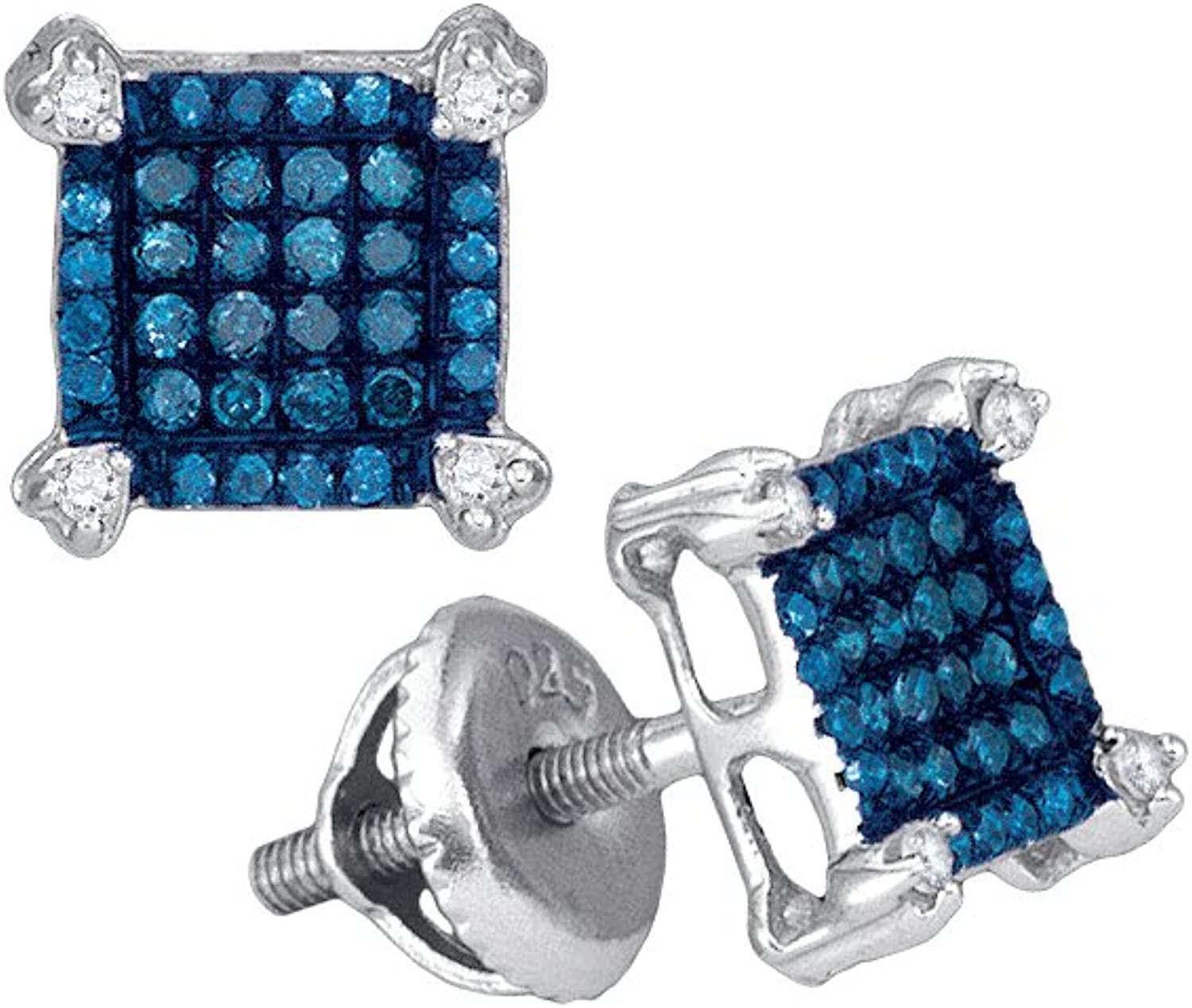 1 4 Total Carat Weight blueE DIAMOND MICROPAVE EARRING