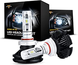 Auxbeam 9005 Led Headlight Bulbs NF-X3 Series 9005 HB3 H10 9145 Led Headlights with with 2 Pcs of LED Headlight Conversion Kit 50W 5500lm Led Chips Single Beam - 1 Year Warranty