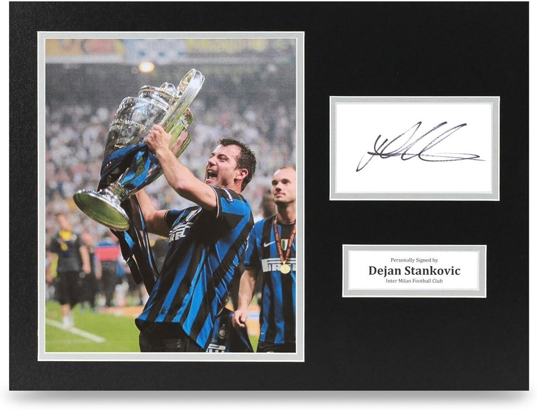 Dejan Stankovic Signed 16x12 Photo Display Inter Milan Autograph Memorabilia COA