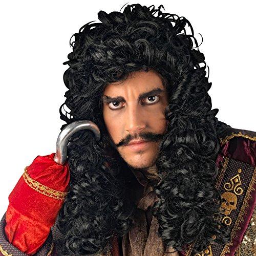 Elbenwald Crochet-Accessoire Capitaine Pirate Adulte Costume Perruque