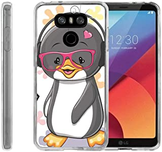 TurtleArmor | Compatible with LG G6 Case | LG G6+ Case | LG G6 Plus Case [Flexible Armor] Ultra Slim Compact Flexible TPU Case Fitted Soft Bumper Cover Animal - Cute Penguin