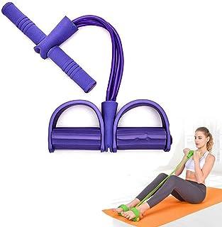 Bandes de r/ésistance /élastique de corde de traction de yoga,bande de r/ésistance de p/édale,extenseur de musculation assis en latex naturel /à 4 tubes,/équipement de fitness de corde de traction /élastique