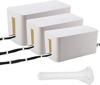 NONNO&ZGF 3 pièces Boîtier pour Câbles, Boîte de Rangement pour Câbles, Télévision, Ordinateur, Concentrateur USB (Bandes ...