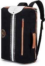 GENTLEMAN SYLT Laptoprucksack schwarz, Moderne Aktentasche mit Laptopfach, abnehmbare Riemen, Rucksack wasserabweisend 49x31x18cm