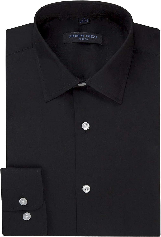 Andrew Fezza Men's Slim Fit Barrel Cuff & French Cuff Dress Shirt - Many Colors