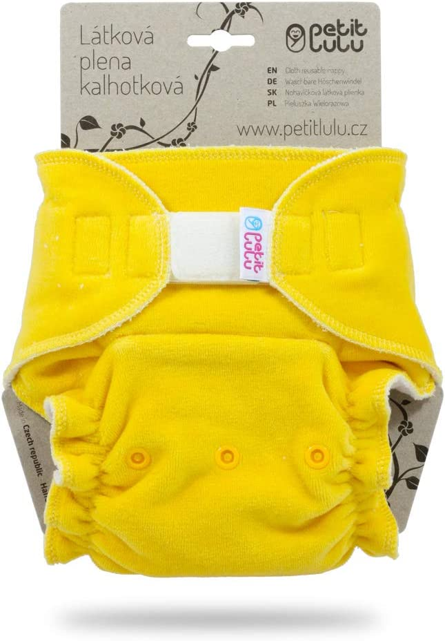 Hook /& Loop Made in Europe Alpacas Reusable /& Washable Fluffy Organic Petit Lulu Bamboo Fitted Maxi-Night Diaper