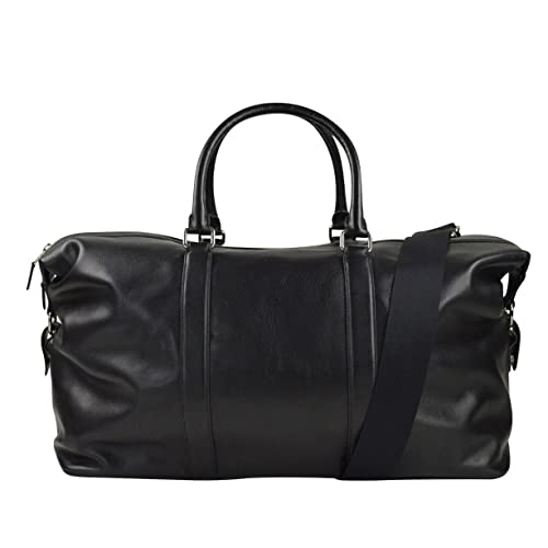 Coach Voyager Duffle Bag 52 Sport Leather in Black 015dd9a8763d2