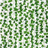COCOBOO Fake Vines for Room Decor 10pcs Fake Leaves Artificial Ivy, Silk Ivy Garland Greenery Hanging Plant for Wedding Wall Party Bedroom Aesthetic Decor