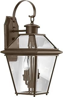 Progress Lighting P6616-20 Burlington Two-Light Med Wall Lantern, Oil Rubbed Bronze
