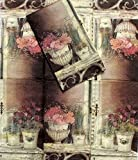 DESIGNER GUEST NAPKINS / 16 PC COUNT (French Rose, Guest: 15.66 in  x  11.66 in)
