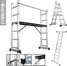 STRUKTURO fahrbares Heimwerkerger/üst Arbeitsger/üst mit Treppenverstellung f/ür innen und au/ßen aus Aluminium Arbeitsh/öhe 3,00 m Kleinger/üst