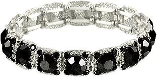 Falari Crystal Stretch Bracelet Wedding Bracelet Gift Box Included