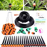 Ohuhu Drip Irrigation Kit, DIY Saving Water Automatic Watering System for Garden Lawn Flower Bed Potted Plants, 66ft...