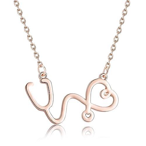 Rosa Vila Stethoscope Necklace Gift For Nurses Physician Assistants Doctors Medical Student