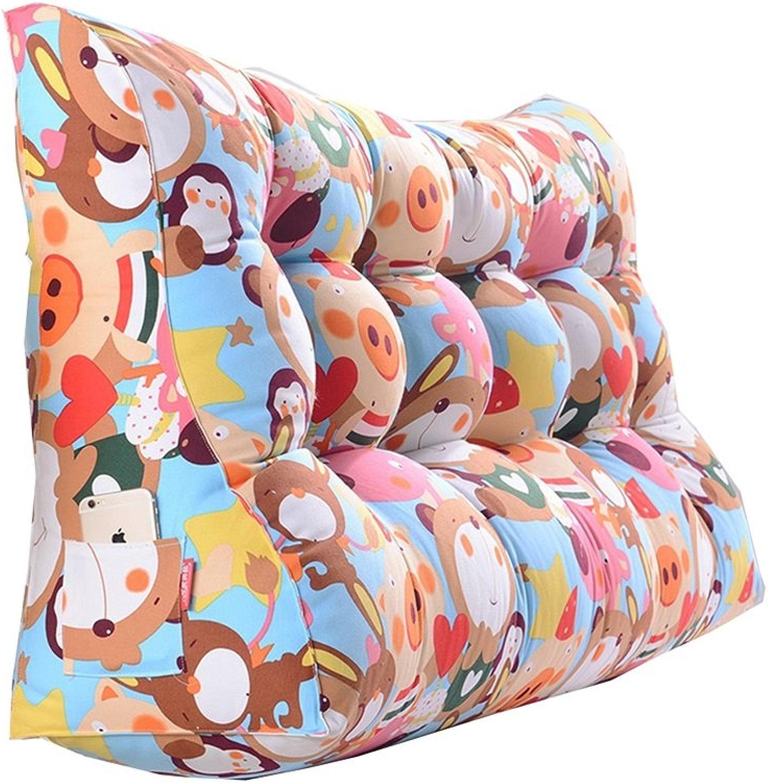 Coussins Triangle de chevet double taille oreiller canapé dos sac souple lit grand prougeéger l'oreiller de taille (Couleur    4, taille   60  90  30cm)