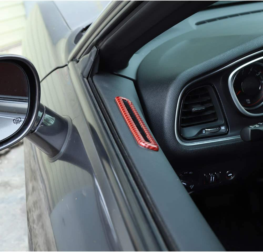 ABS Orange 2pcs Voodonala for Challenger Door AC Outlet Vent Trim for 2015-2020 Dodge Challenger