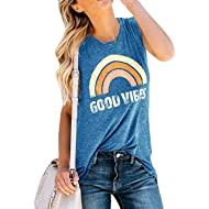 Womens Tank Tops Summer Short Sleeve T Shirts Casual Loose Tunic Blouses