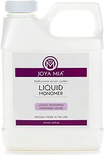 Joya Mia Professional EMA Liquid Monomer Acrylic Nail System MMA Free No Yellowing Made In USA (16oz)