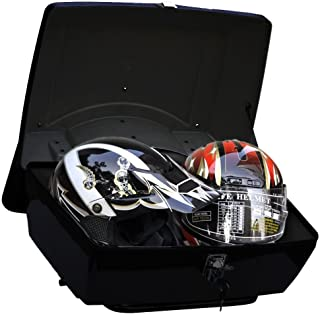 Motorcycle Trunk Tail Box Luggage Case w/Top Rack&Backrest&Tailight for Suzuki