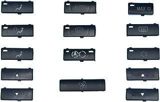 Danci Parts Compatible Replacement for BMW 5 and X5 Series - E39 E53 Push Button Caps A/C Climate Control Panel Set