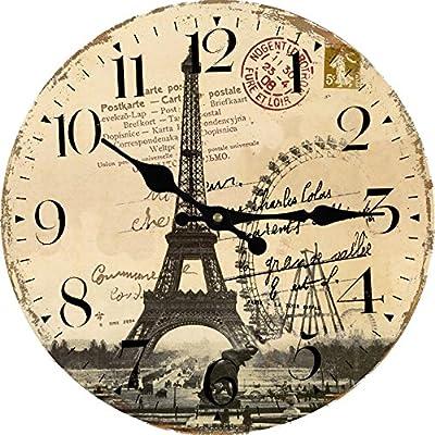 Kess InHouse Zara Martina Mansen A Drop of Memphis Peach Pastel Black Wall Clock 12