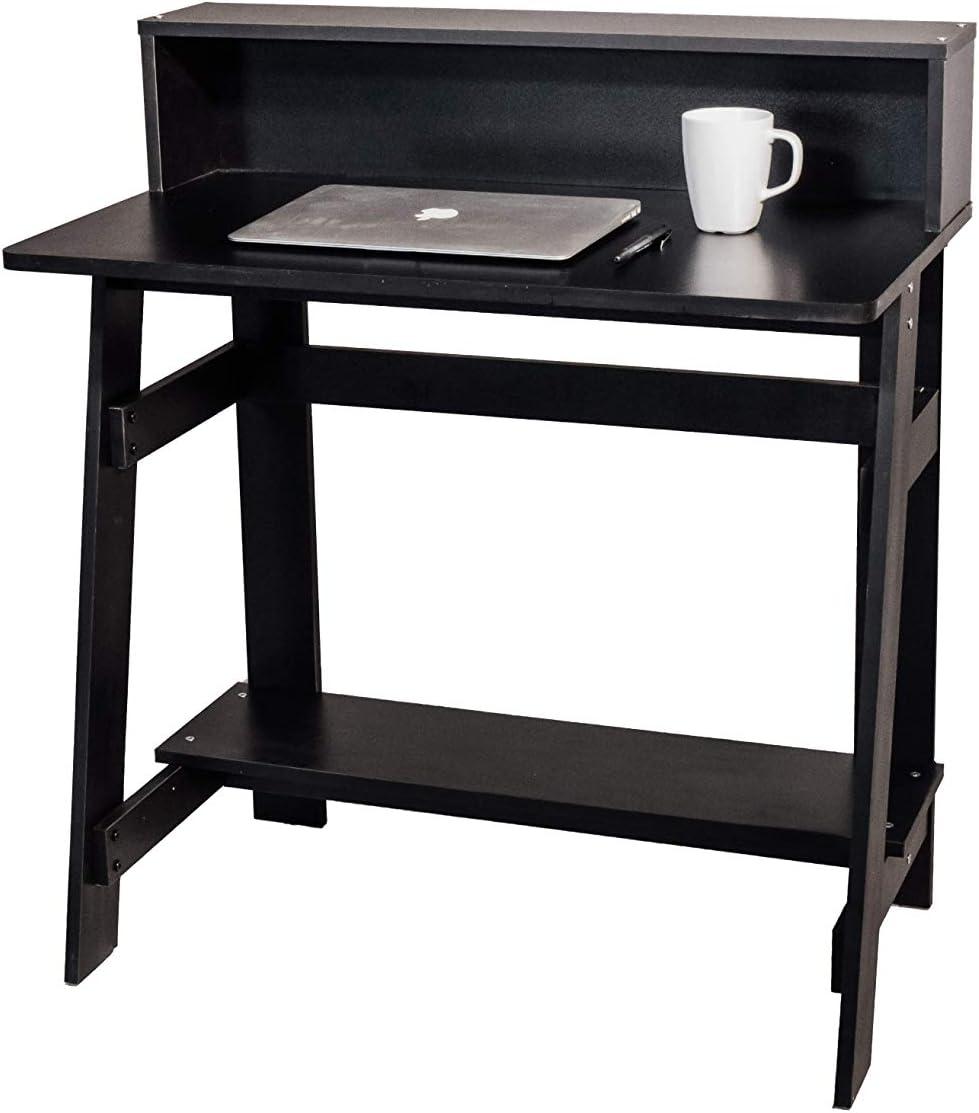 OneSpace Lennox Hutch, Black Computer Desk