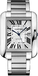 cartier tank anglaise men's automatic watch