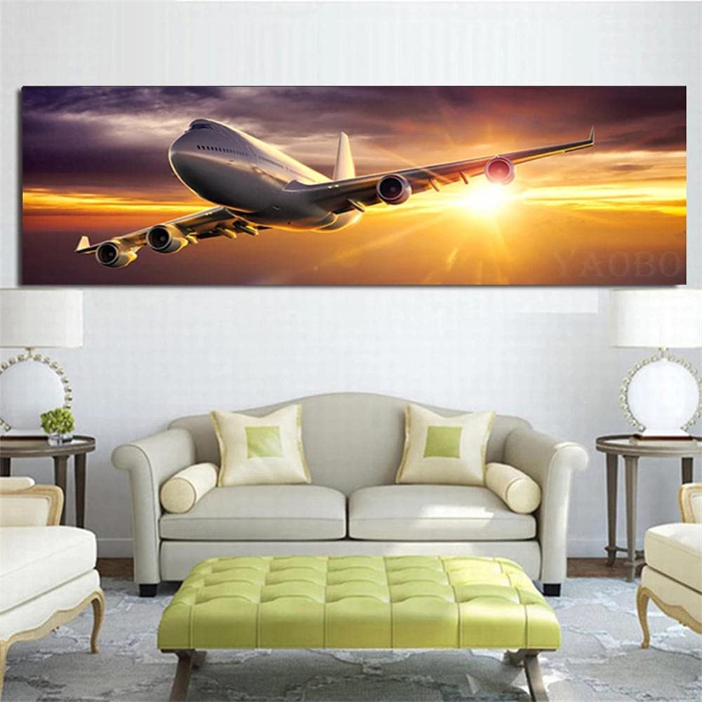 Diamond Painting Direct store Large discharge sale Aircraft Sunset 5D D Kits Full
