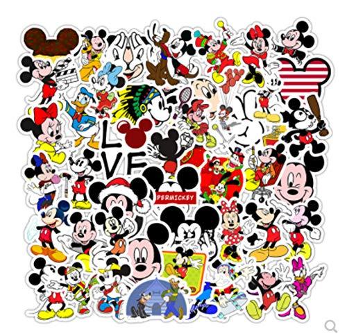 ZJJHX Pegatinas de Dibujos Animados Maleta con Ruedas para Equipaje Pegatinas de recompensa para niños Pegatinas Decorativas Impermeables 50 Hojas