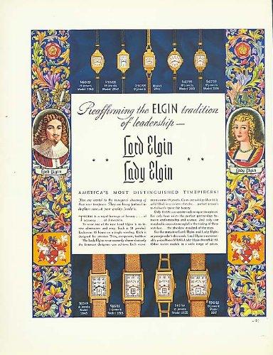 Reaffirming a traditon Lodr & Lady Elgin Watch ad 1937
