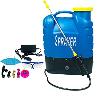 16L Electric Weed Sprayer Rechargeable Backpack Chemical Garden Farm Water Pump Spray Equipment Portable Withe Battery