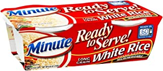 Minute Ready to Serve Long Grain White Rice 2 - 4.4 oz cups (Pack of 8)