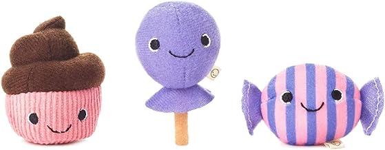 Hallmark Happy Go Luckys Sweet Treats Mini Stuffed Animals, Set of 3 Classic Stuffed Animals Food & Drink
