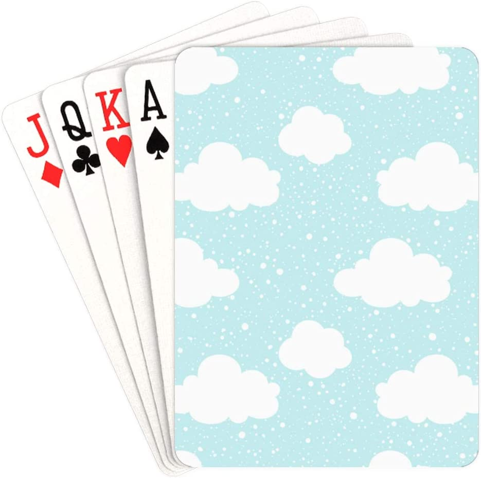 WUTMVING Poker Deck Industry No. 1 of Cards 1 year warranty White On Card Blue Sky Clouds
