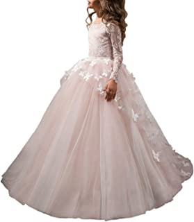 white butterfly prom dress
