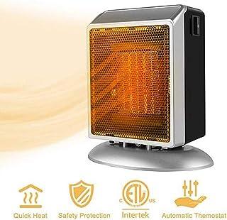 WUX Calefactor JFW-Space, Mini Calefactor eléctrico para el hogar y la Oficina Calefactor cerámico pequeño con protección contra sobrecalentamiento e inclinación